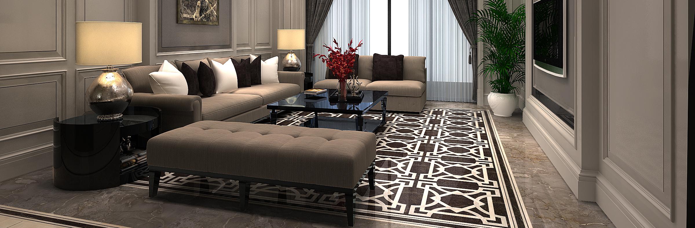 四大风格精工大理石客厅总有一款适合你
