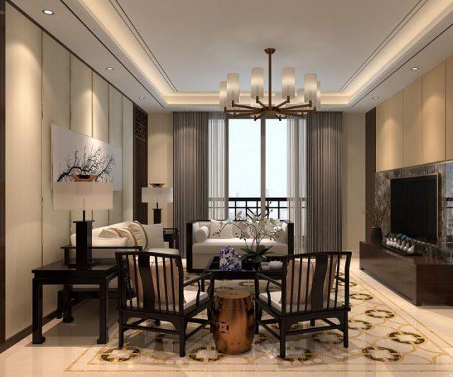中式客厅-天圆地方