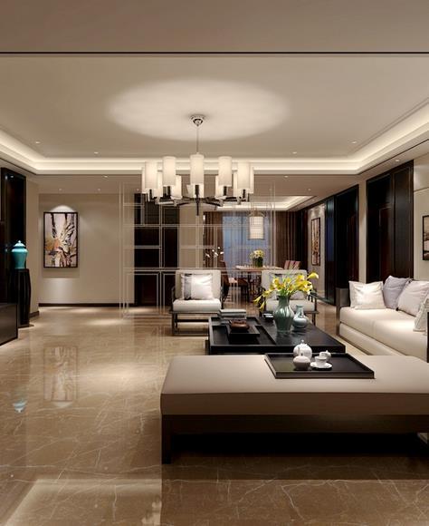 中式客厅-米洛西金咖