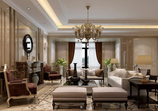 欧式客厅-丁香花