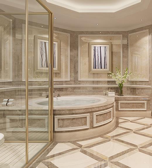 法式卫浴间