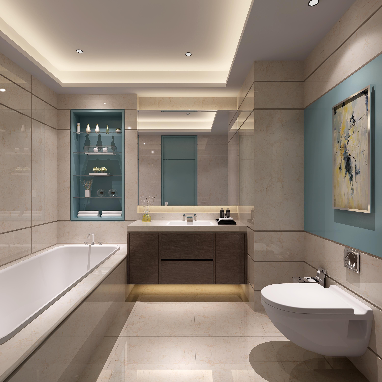 现代卫浴间
