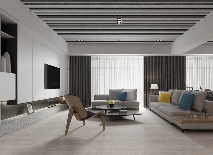 现代客厅几何条形