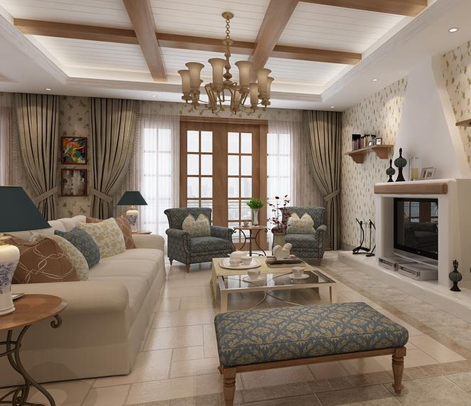 田园法国拼图客厅