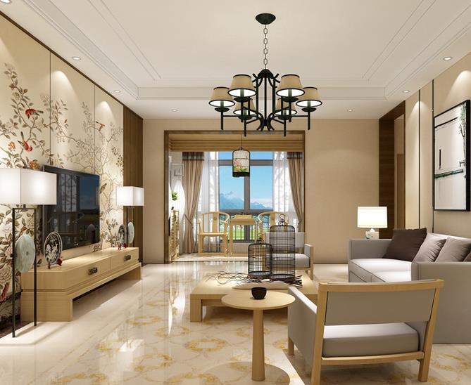中式客厅-天圆地方2