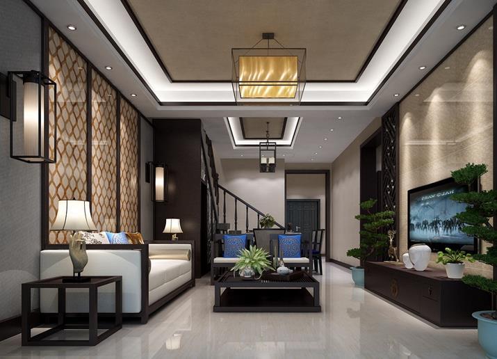 中式客厅-精工几何条形