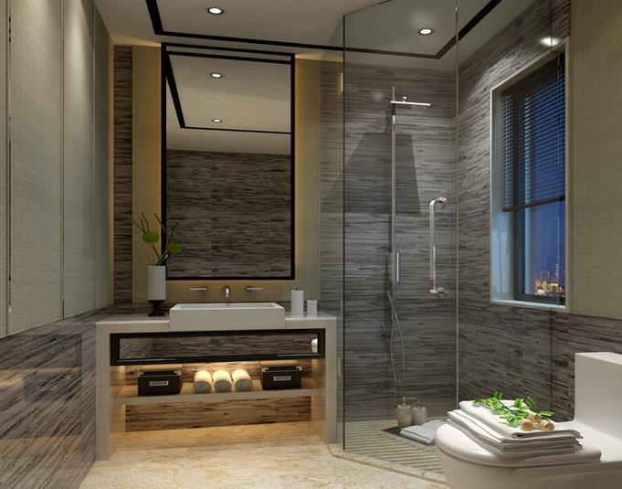 中式卫浴间-米洛西浅咖