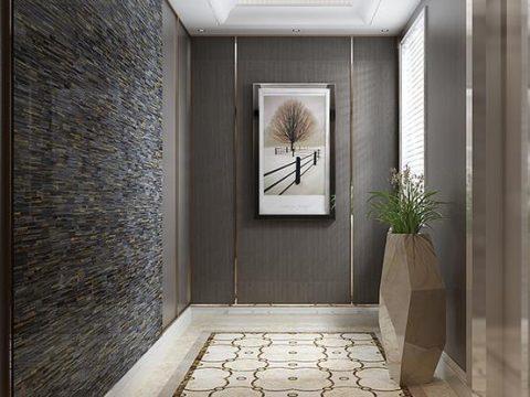两套案例告诉你如何用米洛西·精工大理石打造庄重华美的新古典风格空间~