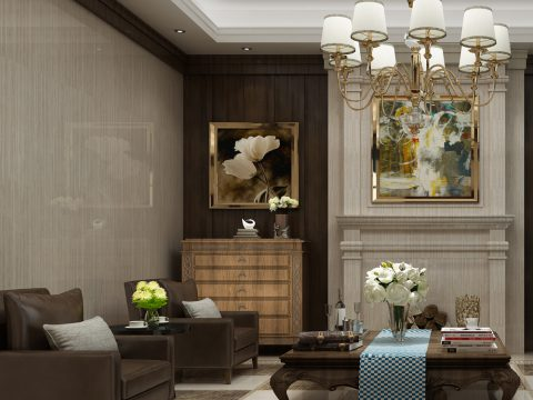 美式客厅墙面装修必看!设计师看到都忍不住收藏了!
