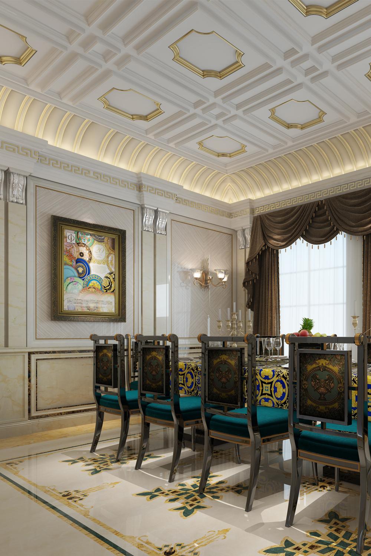 1 欧式客厅(创世纪尊享版+米洛西樱花、菱形米白护墙板)