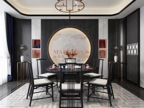 米洛西|精工大理石+轻奢新中式,绝美的东方格调